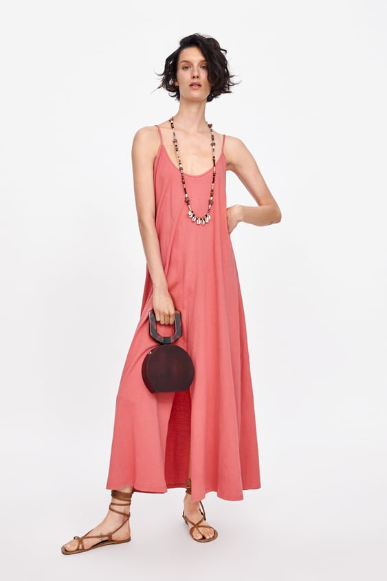 aa43bb04b1a9 CUT-OUT DRESS WITH SLIT