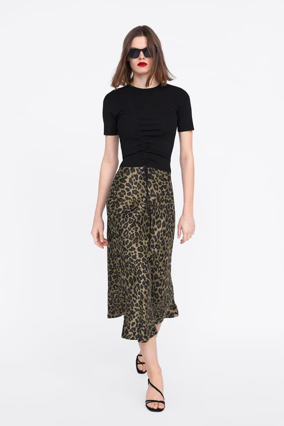 Animal Print Skirt  New Inwoman New Collection by Zara
