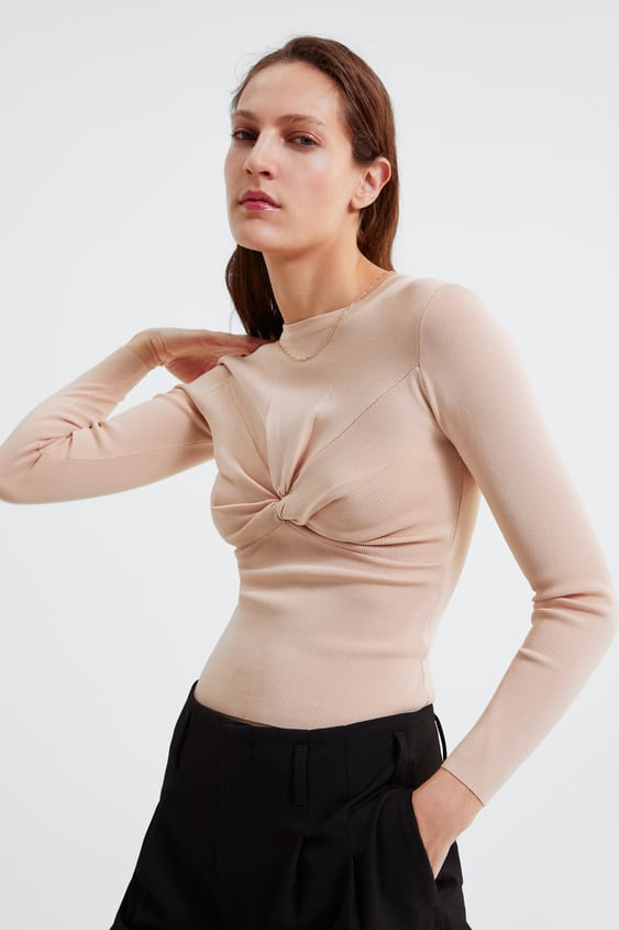 1574be7480ef KNITTED SWEATER WITH KNOT - Available in more colours