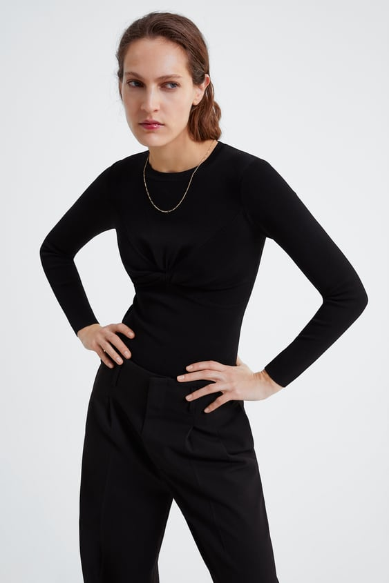 d838b761f5 KNITTED SWEATER WITH KNOT - Available in more colours
