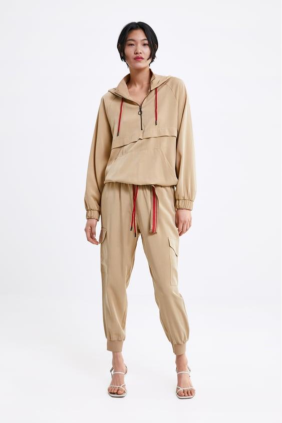 8a05844b Shoptagr | Cargo Jogging Trousers Joggers Trousers Woman by Zara