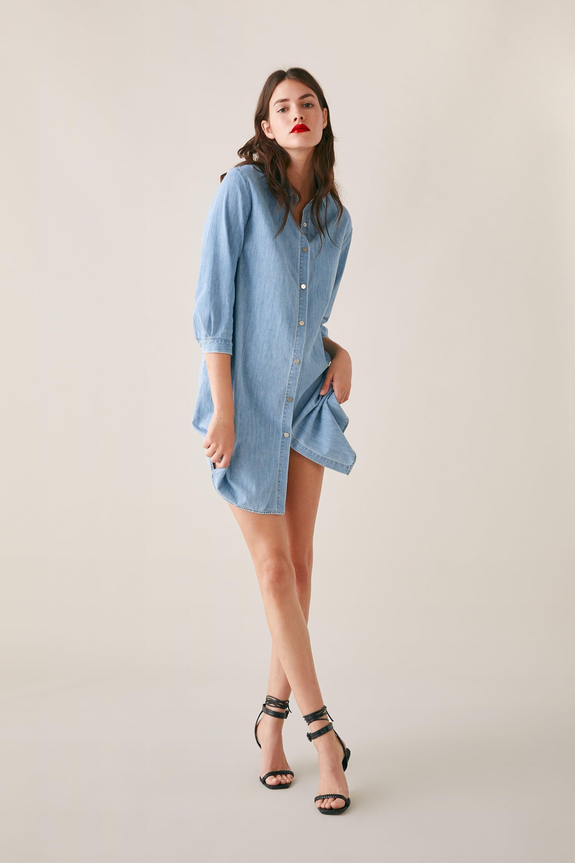 2e6dbd68 Zara Denim Shirt Dress