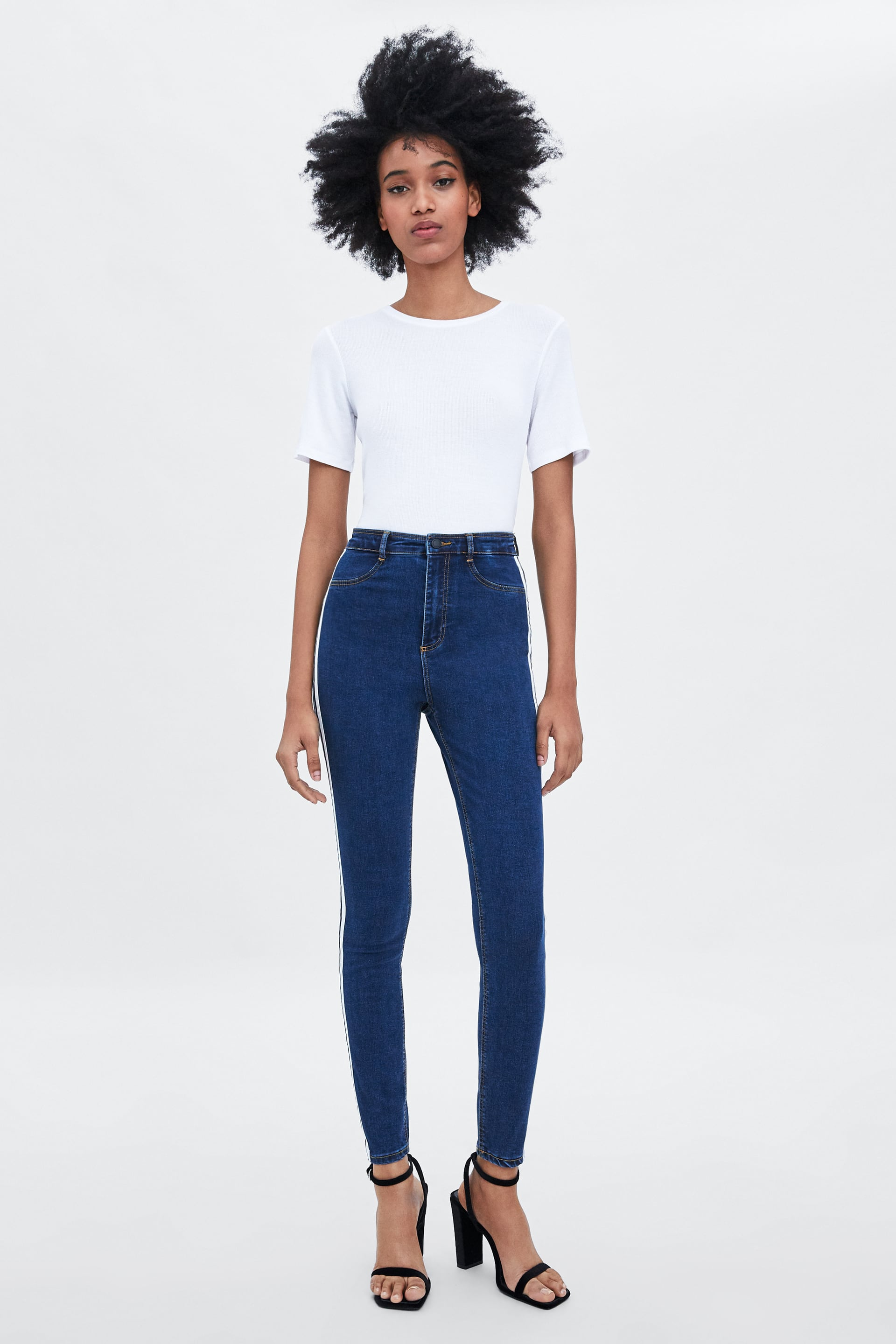 34e30b7e HI - RISE SHAPER JEGGINGS WITH SIDE TAPING-High Waist-JEANS-TRF ...