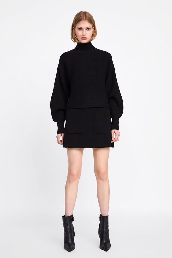 Mini Skirt With Pockets  View All Knitwear Woman by Zara