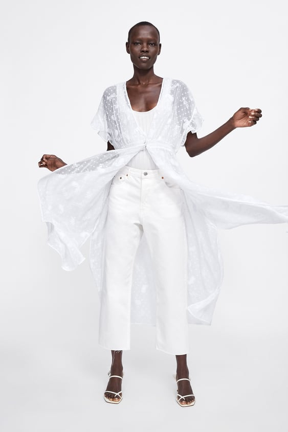 3b29ef2b90cc96 Shoptagr | Long Embroidered Blouse View All Dresses Woman by Zara