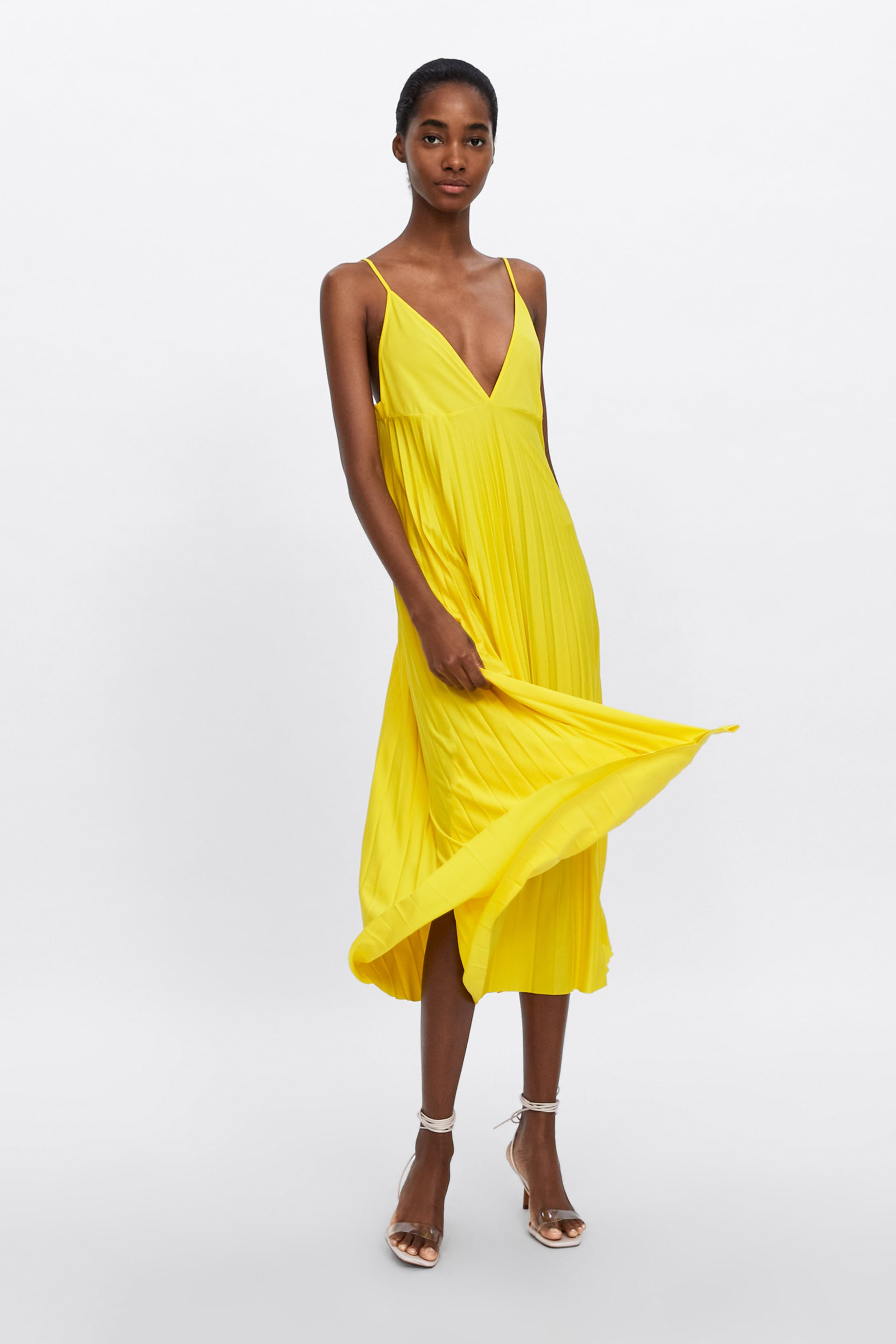 Image 1 of PLEATED CAMISOLE DRESS from Zara