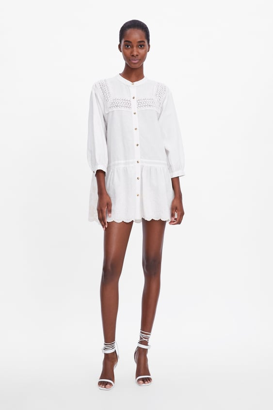 Embroidered Lace Dress Best Sellerswoman by Zara