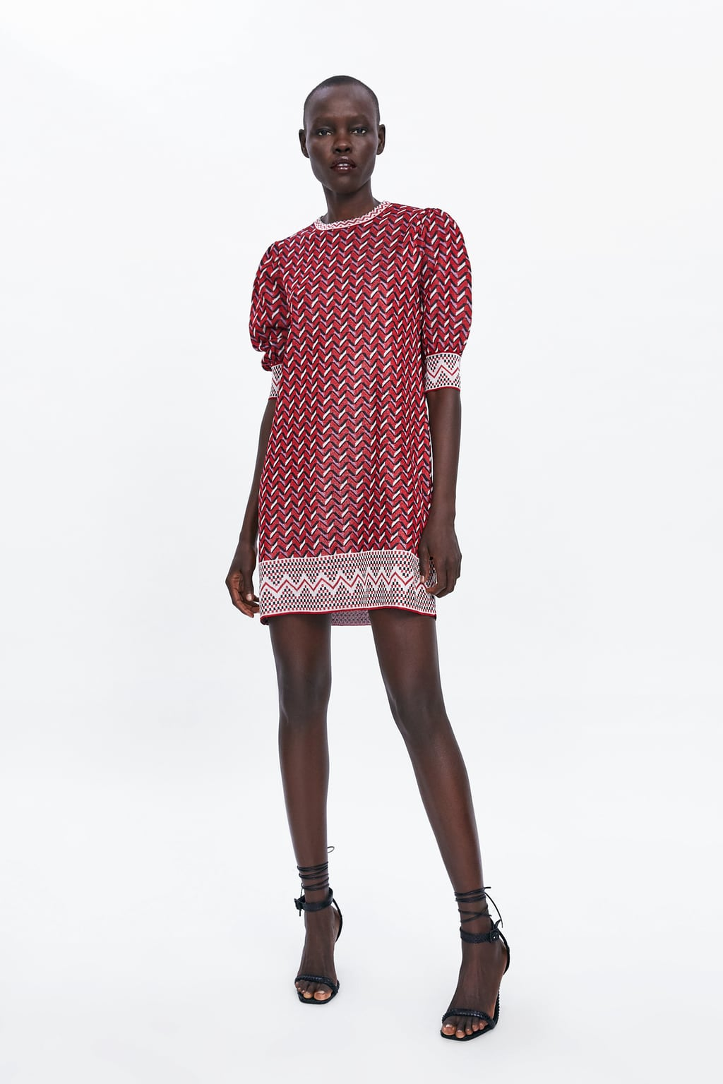 Image 1 of JACQUARD MINI DRESS from Zara