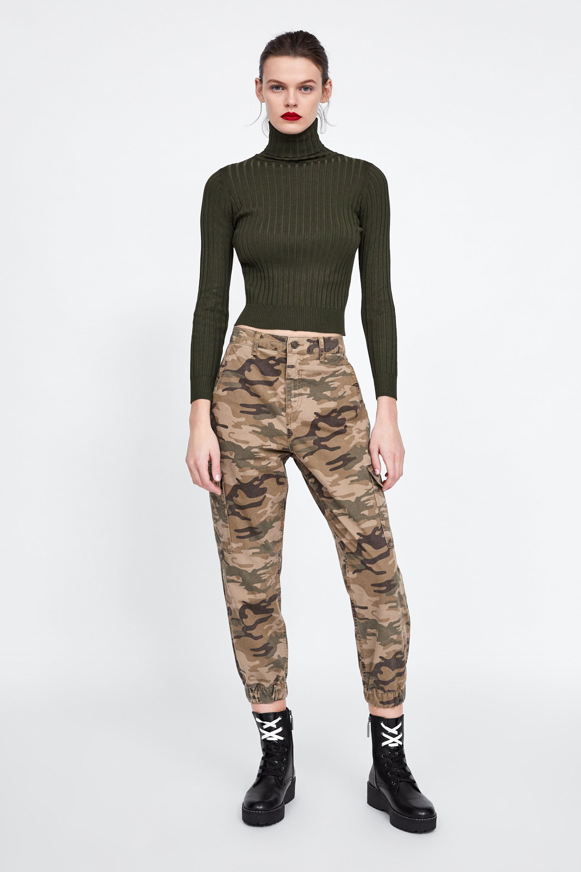 Baggy Camouflage Pants  New Inwoman by Zara