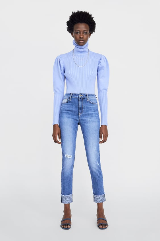 296a4ea5 HIGH RISE SKINNY Z1975 JEANS WITH TURN-UP HEMS