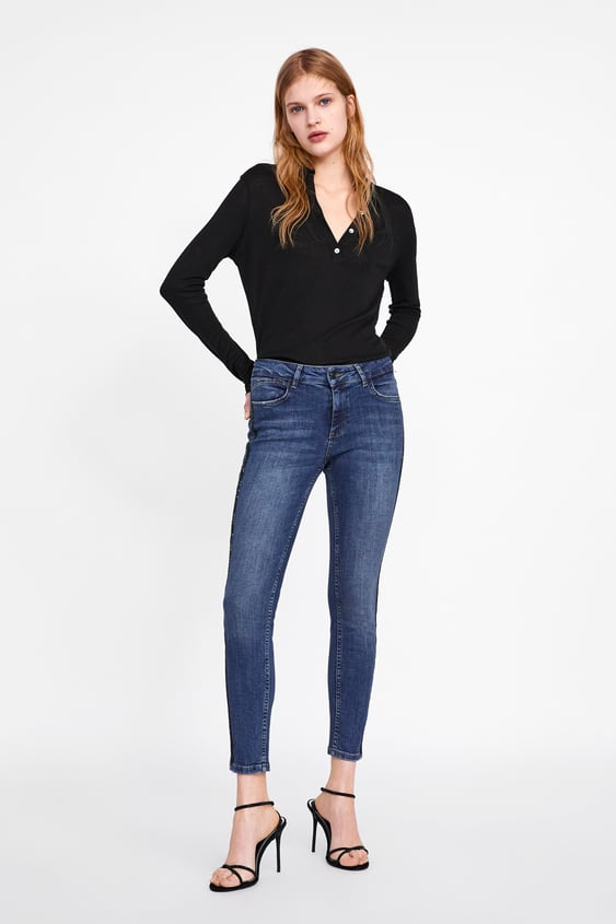 Z1975 Skinny Jeans With Side Taping  Jeanswoman New Collection by Zara