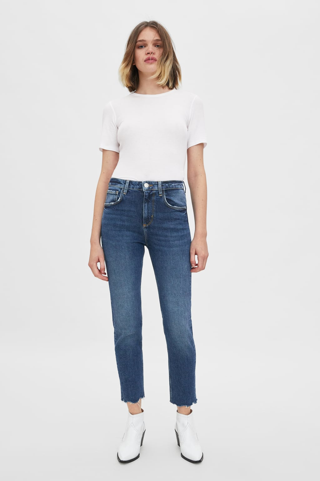 f44b3ff0 Image 1 of HI-RISE SLIM FIT JEANS from Zara ...