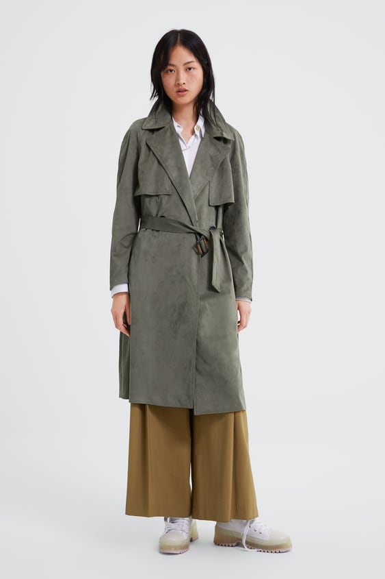 Faux Suede Double  Breasted Trench Coatouterwear Woman by Zara