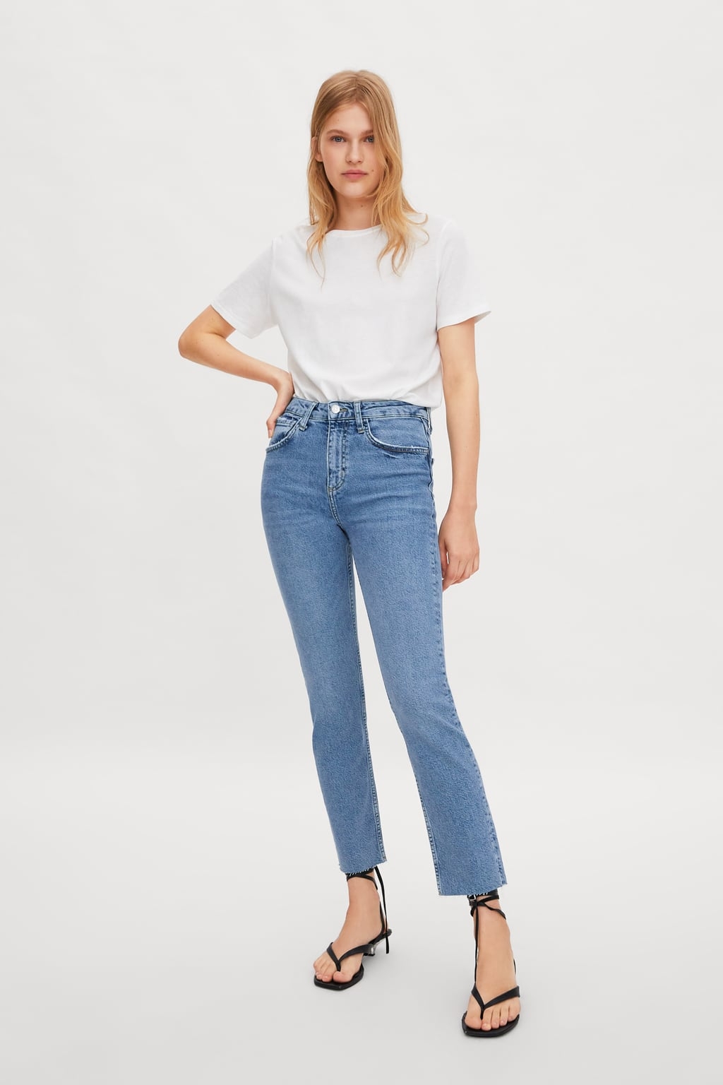 Hi  Rise Slim Fit Jeansjeans Woman New Collection by Zara