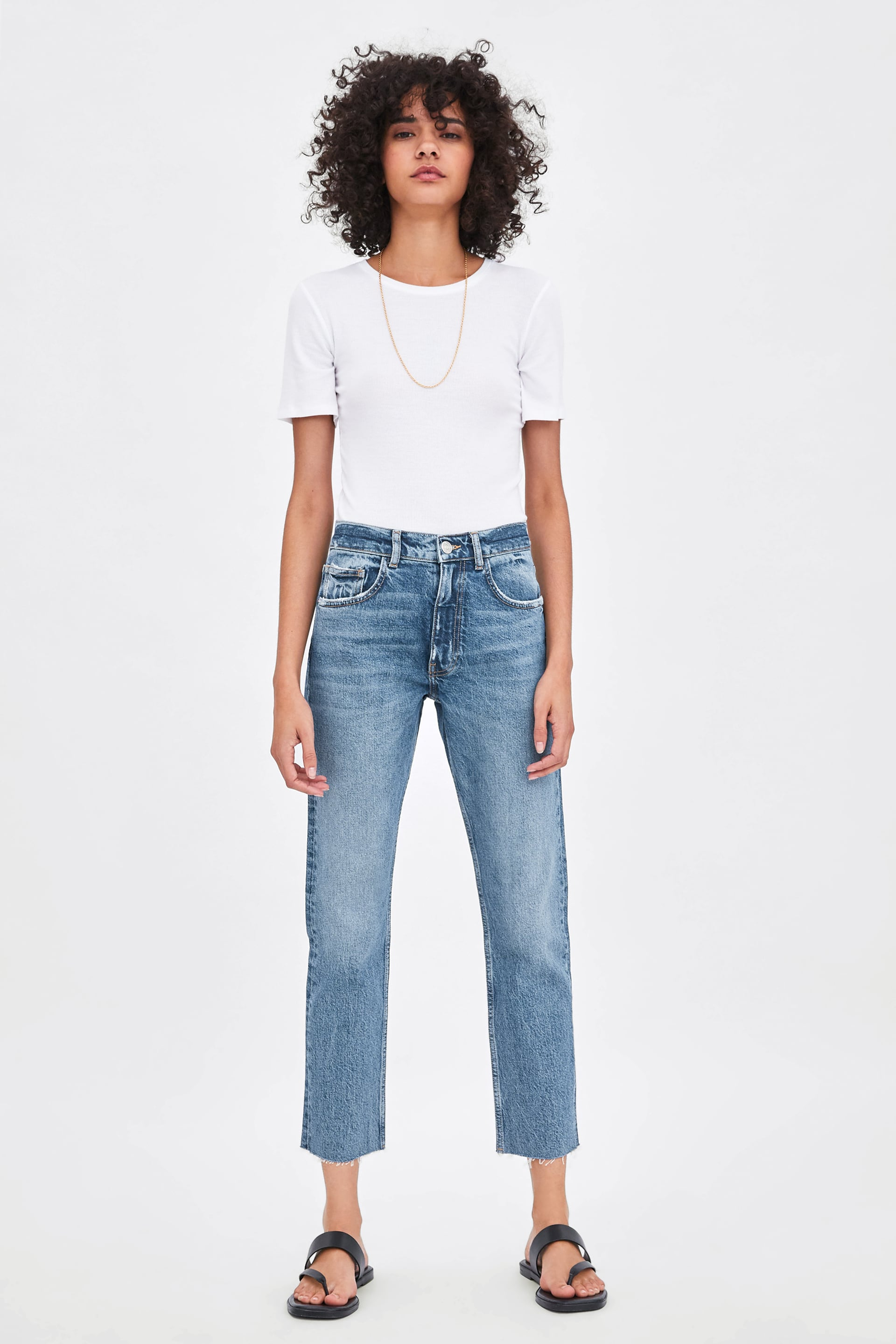 0a67fbbc Slouchy Mid Rise Jeans Mid Waist Jeans Woman by Zara