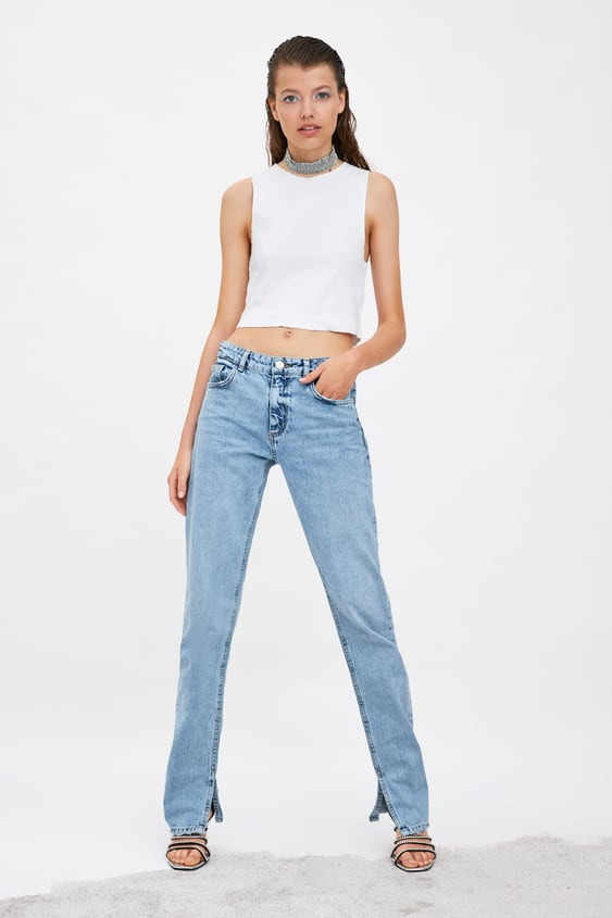 1399a37b High Waisted Jeans | TRF | New Collection Online | ZARA India