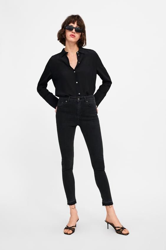 Jeans Zw Premium High Waist Lead Black  Última Semanamulher by Zara