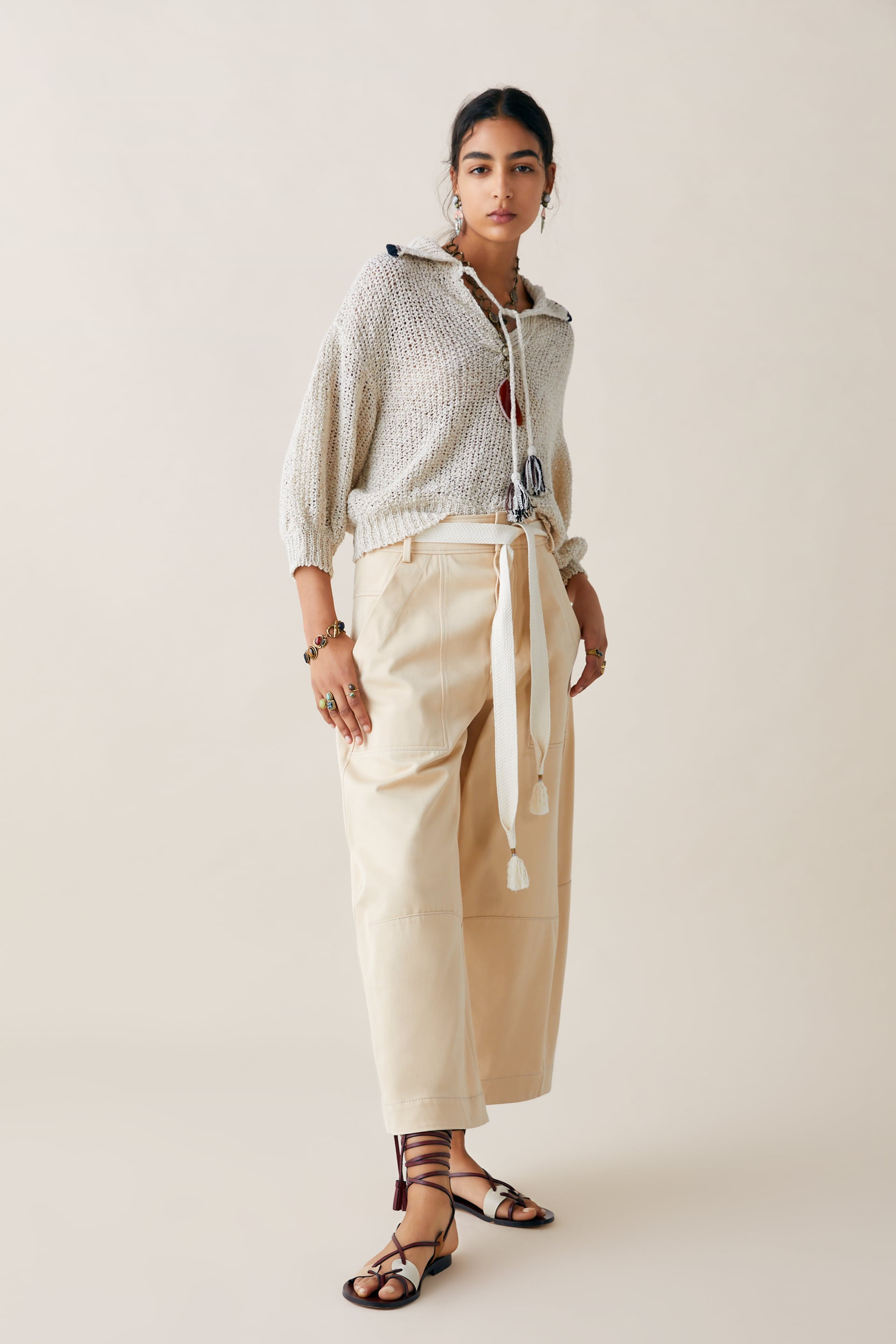 2832ee9a Image 1 of LIMITED EDITION ZARA STUDIO SWEATER WITH CONTRAST TOPSTITCHING  from Zara