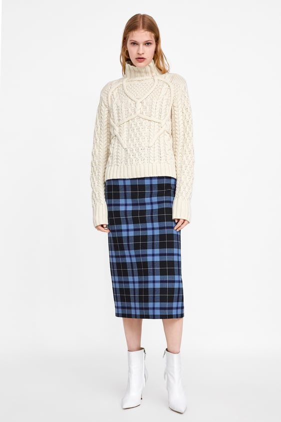 Cable Knit Sweater Tops Knitwear Woman by Zara