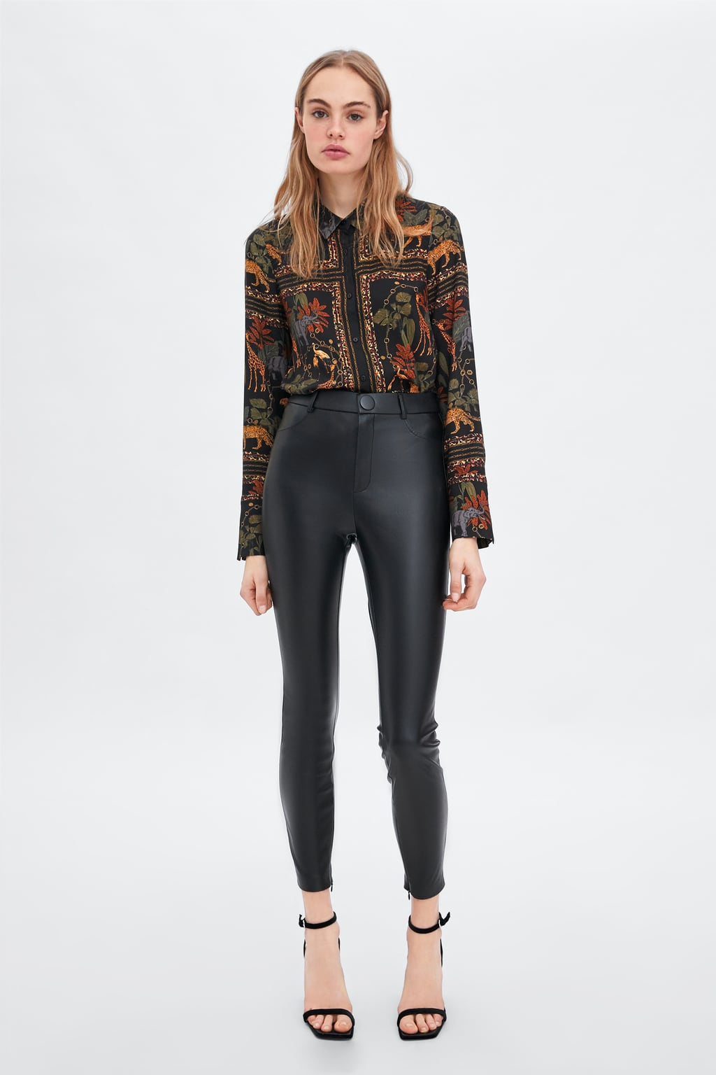 Faux Leather Leggings  New Intrf New Collection by Zara
