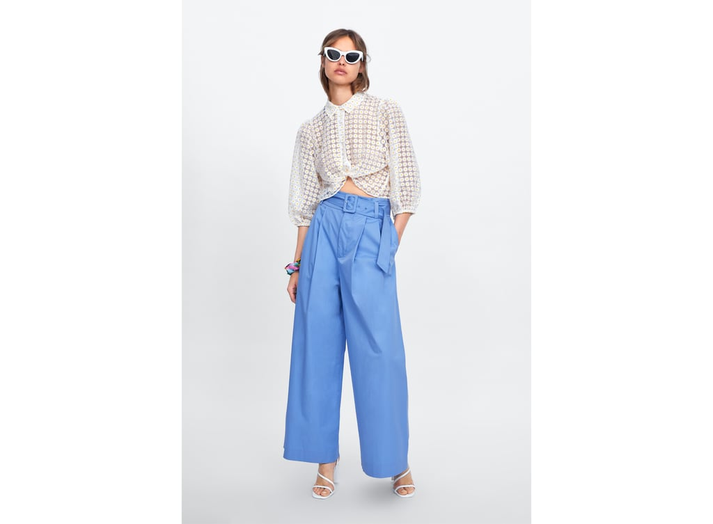 59c32ca210a WIDE-LEG BELTED TROUSERS - Available in more colours