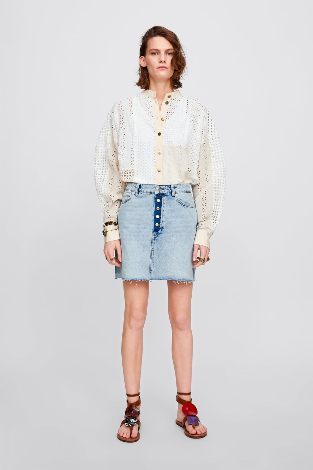b582c6af4 Shoptagr | Falda Mini Zw Premium Button Fly Skirts Denim Woman ...