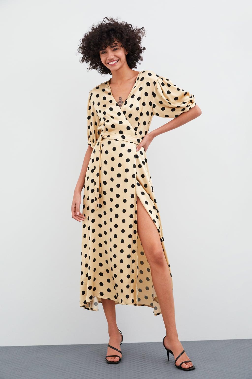 Image 1 of POLKA DOT WRAP DRESS from Zara