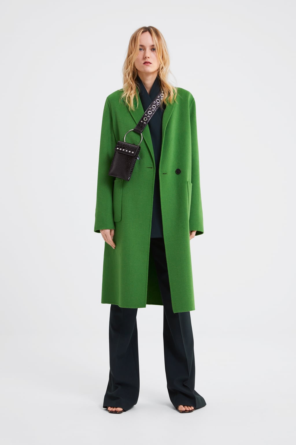 Image 1 of LONG MASCULINE COAT from Zara
