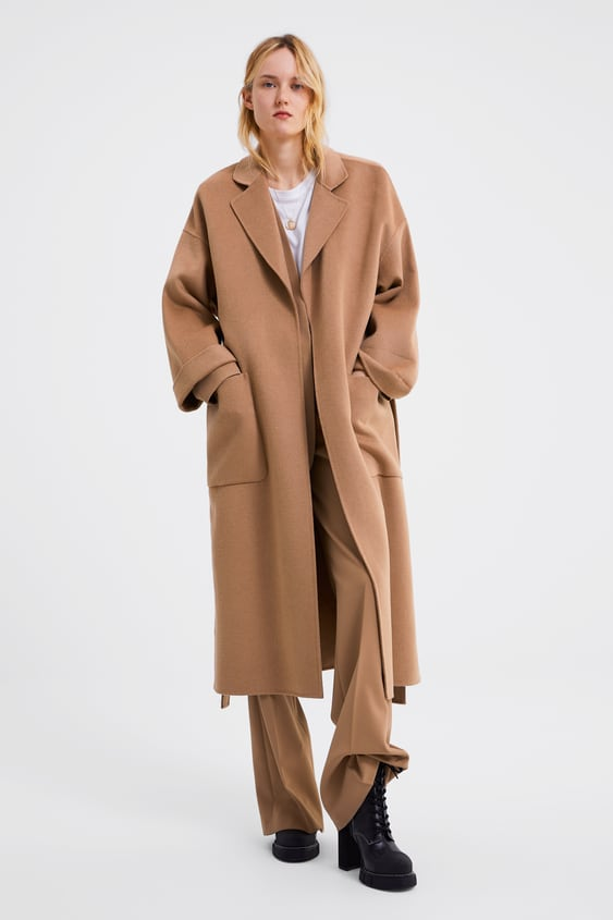807fc809cf0 COAT WITH POCKETS AND BELT