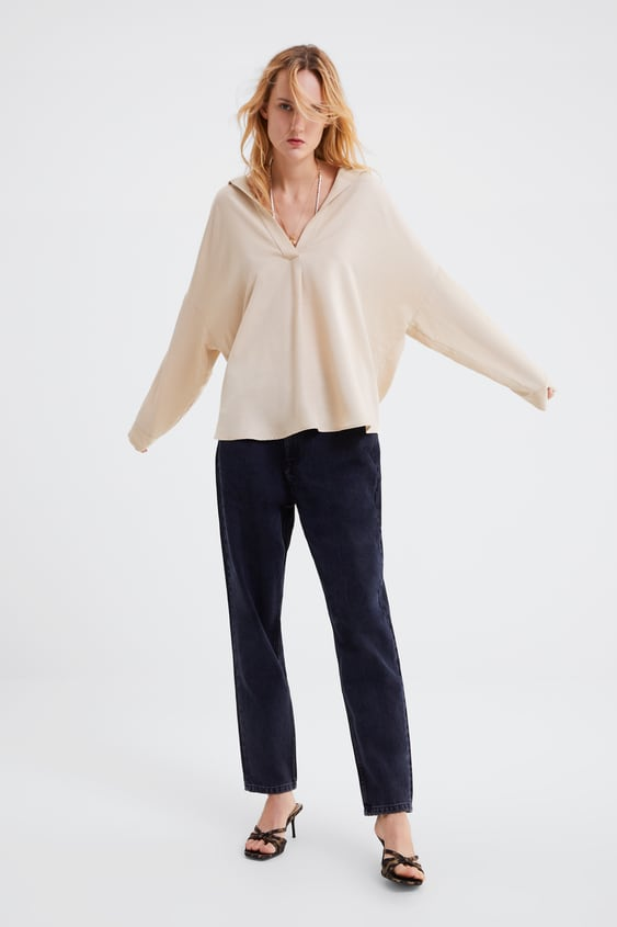 Oversized Blouse View All Shirts by Zara