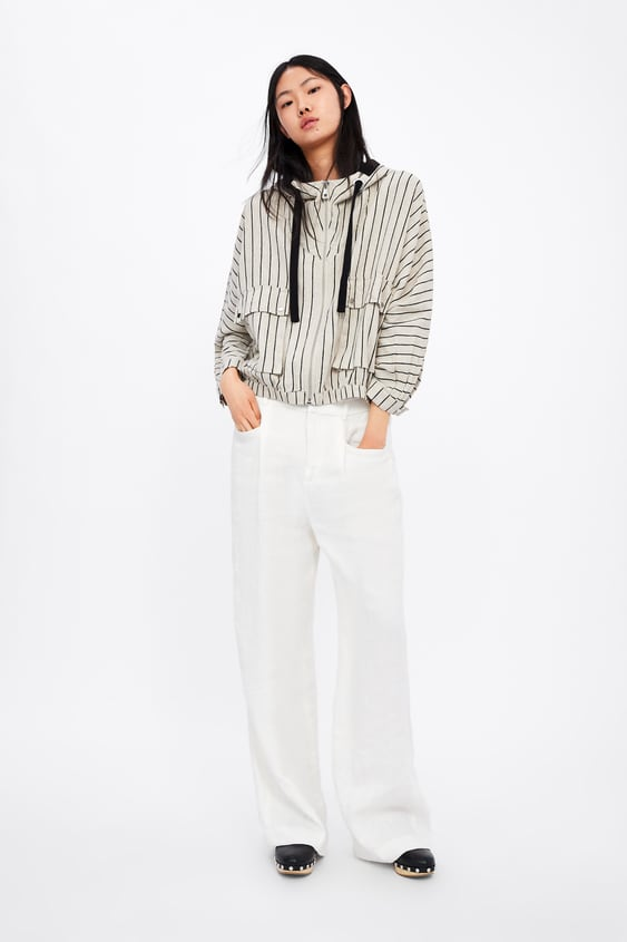 6b055911b50 Image 1 of STRIPED RUSTIC JACKET from Zara