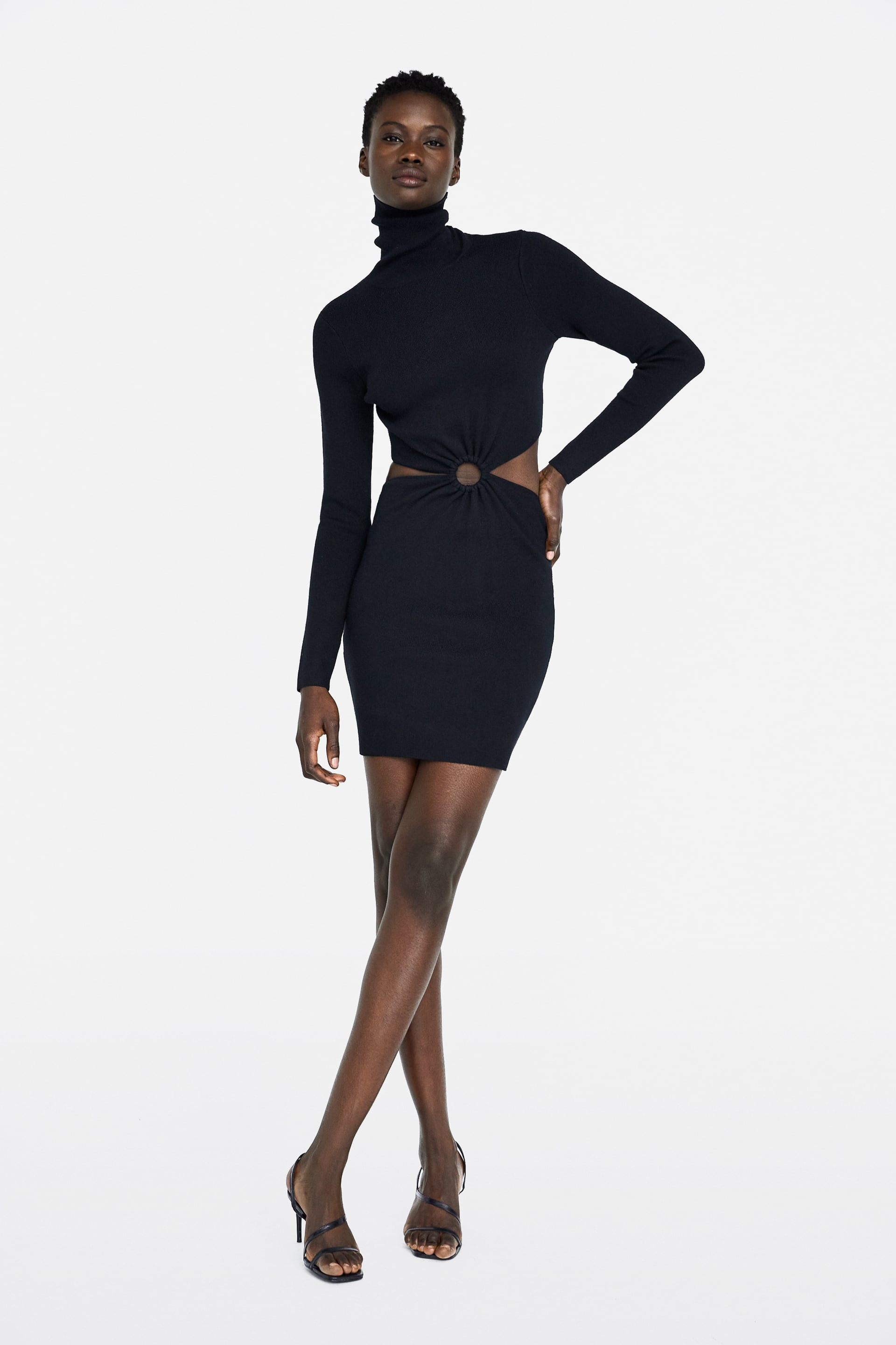 Dress With Cut Outs View All Dresses Woman New Collection by Zara