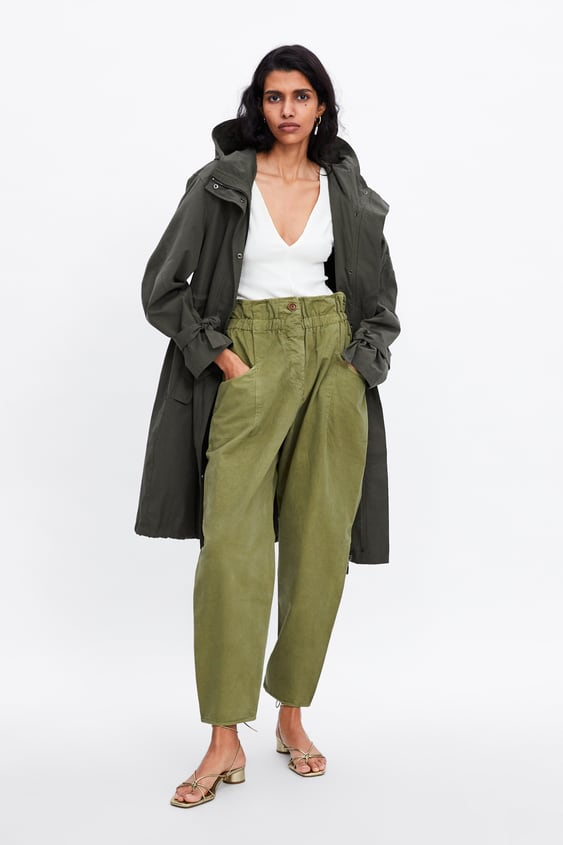 fee52973314ce0 PAPERBAG WAIST PANT - Cargo-PANTS | JEANS-WOMAN-SALE | ZARA United ...