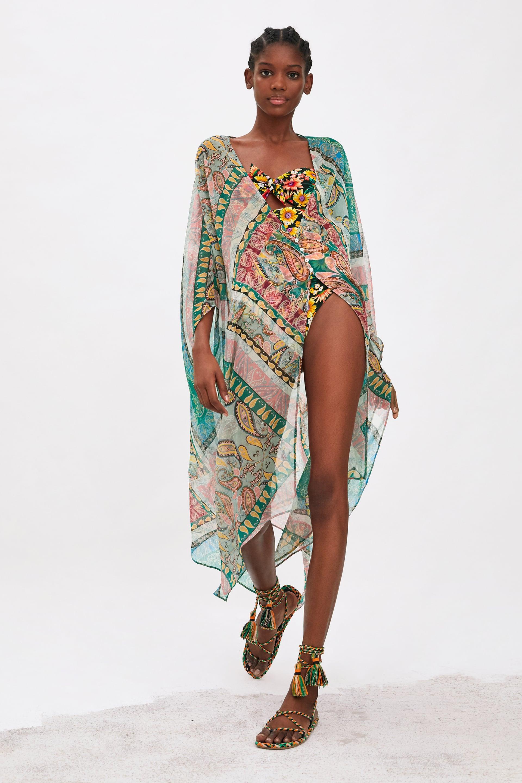 876612f8 PRINTED KIMONO - Kimonos-COATS-WOMAN-SALE | ZARA Canada