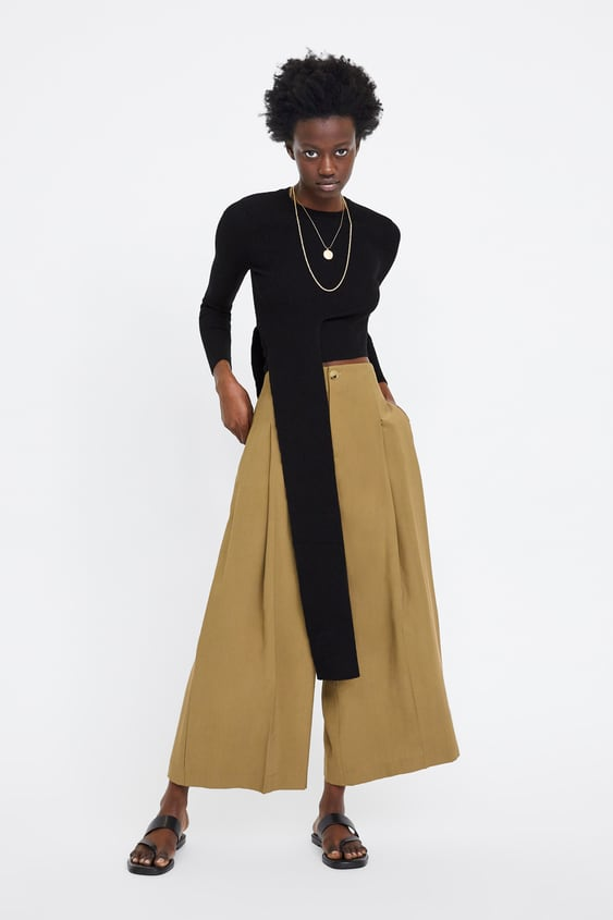 11549481 CROPPED PALAZZO TROUSERS