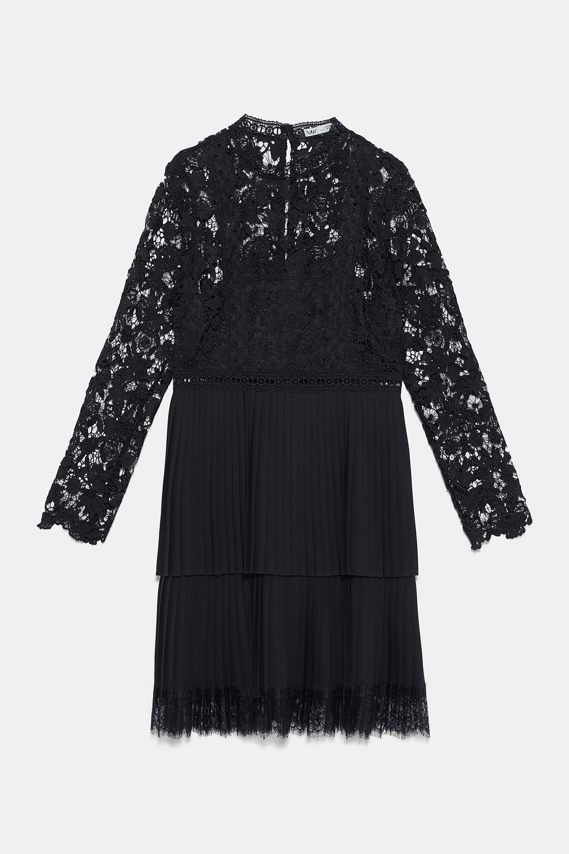 585ac4bf Black And White Check Dress Zara | Saddha