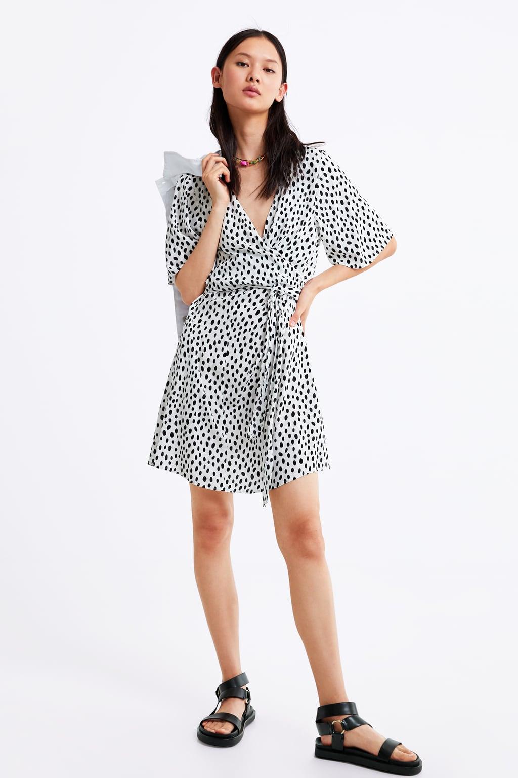 d07685cd POLKA DOT DRESS WITH TIED DETAIL-DRESSES-WOMAN-SALE | ZARA Singapore