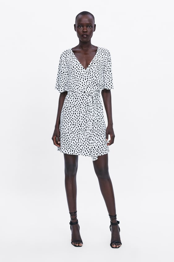 d10eea571ac47 Image 1 of POLKA DOT DRESS WITH TIED DETAIL from Zara