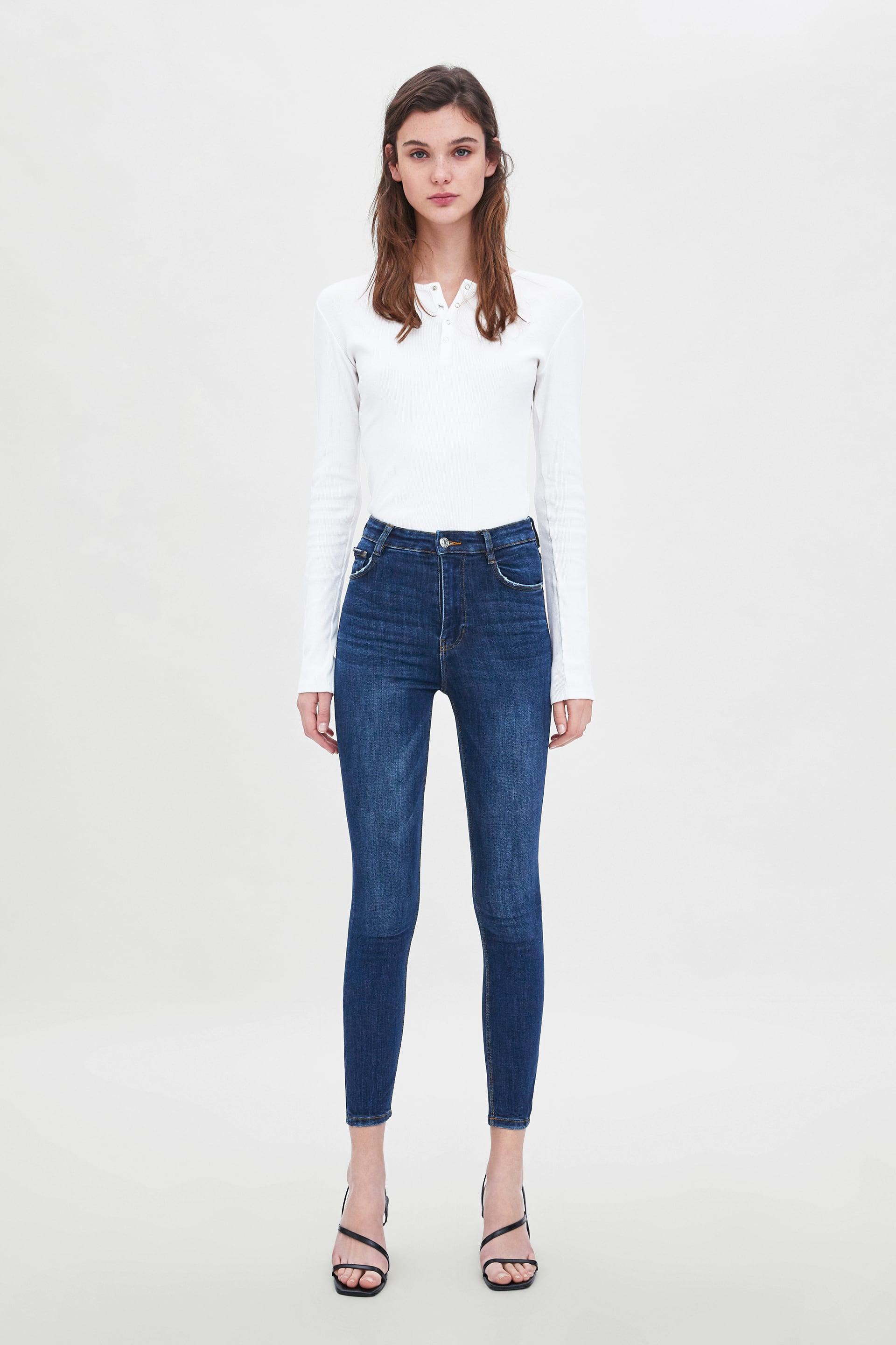 Hi  Rise Skinny Vintage Jeggingsjeans Woman New Collection by Zara