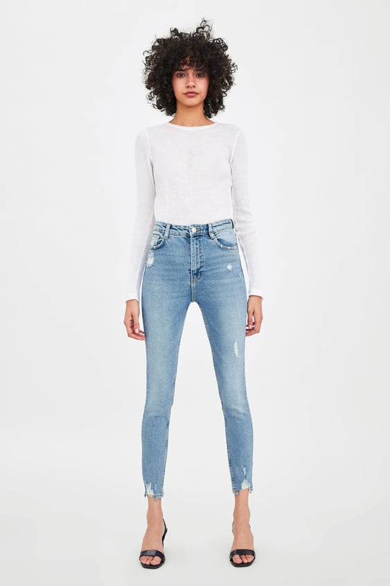 49f42e78756 EDITED VINTAGE HI-RISE JEGGINGS WITH RIPPED DETAILING