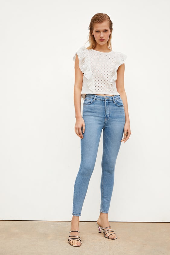 c8e0e396 High Waisted Jeans | TRF | New Collection Online | ZARA Spain