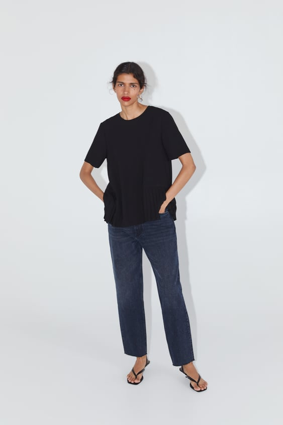 Pleated Hem Top  New Inwoman by Zara