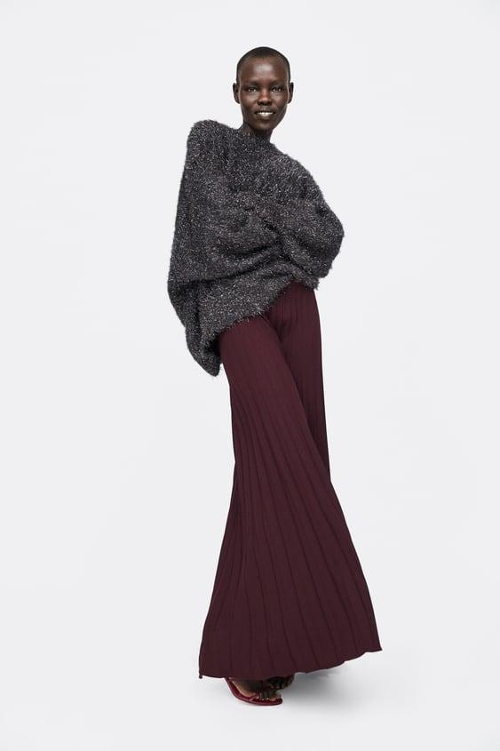 20cd85e3 Shoptagr | Pleated Wide Leg Pants Palazzo Pants Woman by Zara