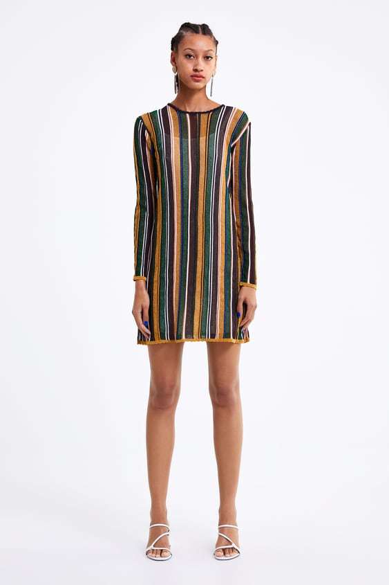 1a0439f3 STRIPED KNIT DRESS - View all-KNITWEAR-WOMAN | ZARA Israel