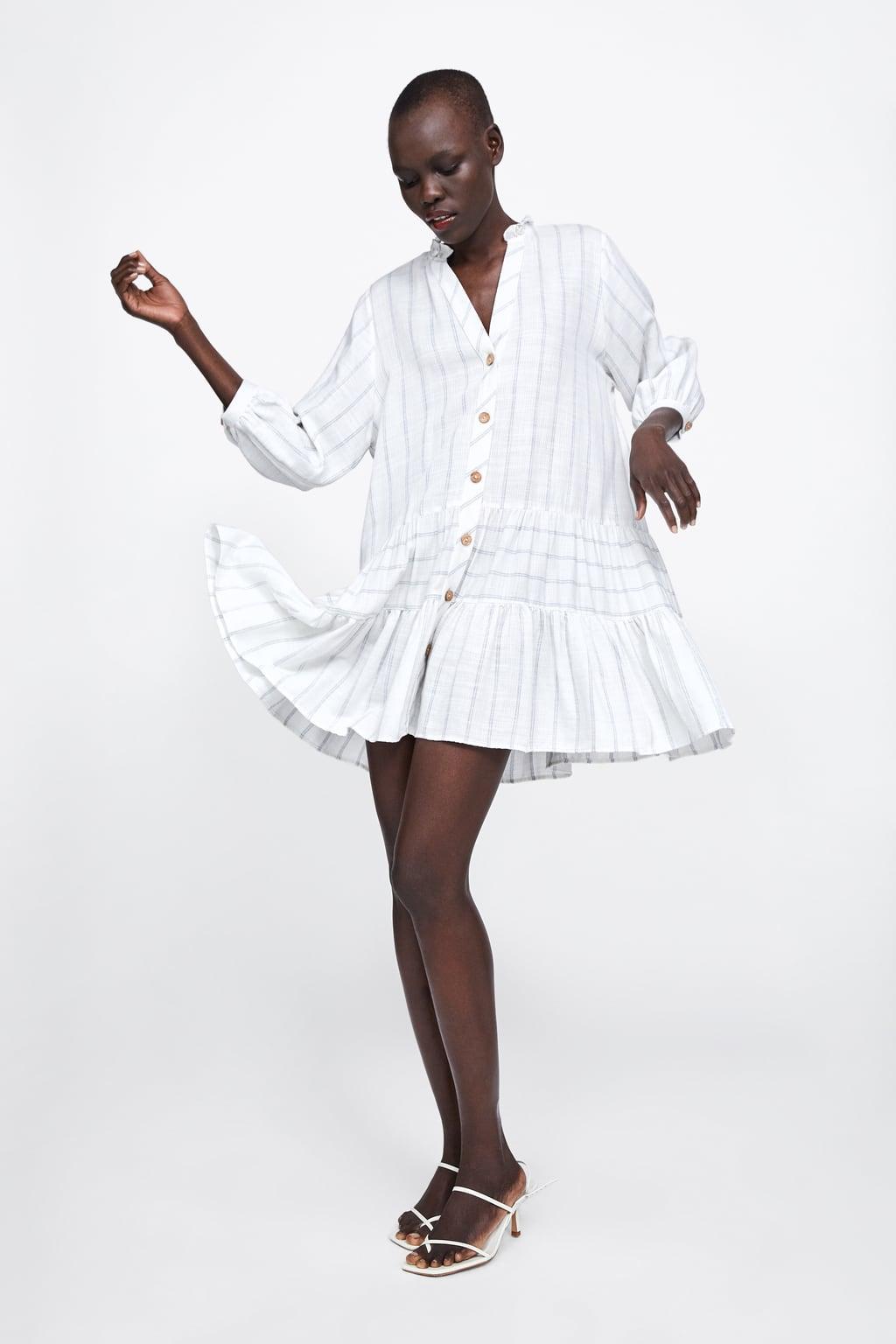 Image 1 de ROBE À RAYURES ET VOLANT de Zara