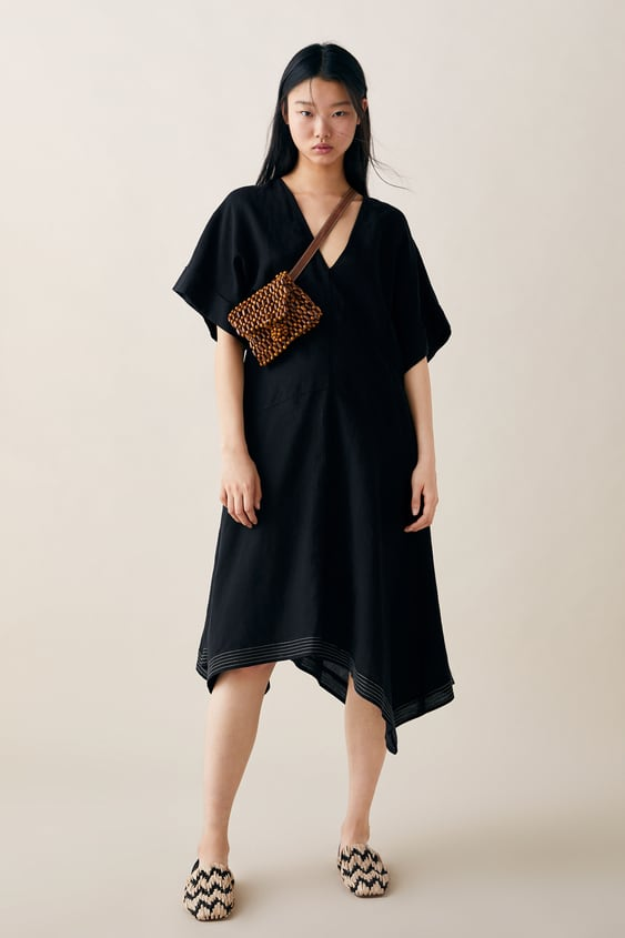 789cfbe6e5 OVERSIZED DRESS WITH CONTRAST TRIM