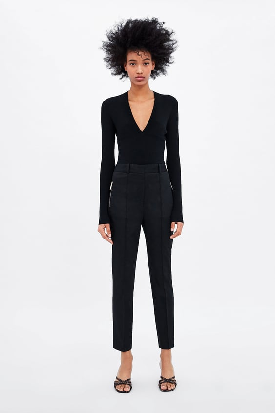 144ee3cf7a5f Image 1 of SKINNY TROUSERS WITH ZIP from Zara