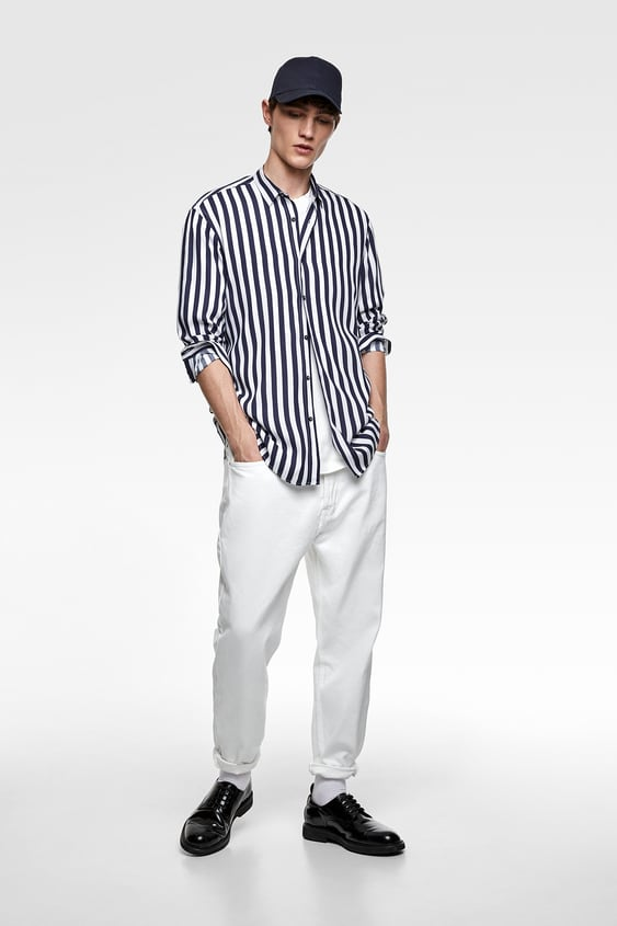 1a75a2c2c0 FLOWING STRIPED SHIRT - View All-SHIRTS-MAN | ZARA India