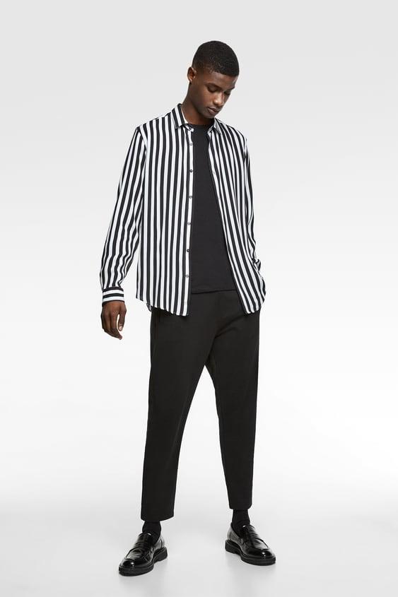baf12757 FLOWY STRIPED SHIRT - Stripes-SHIRTS-MAN-SALE | ZARA United States