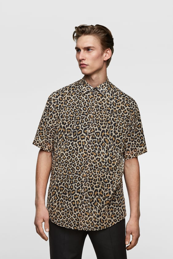e9bfbc919930 FLOWING ANIMAL PRINT SHIRT - Printed-SHIRTS-MAN-SALE | ZARA United ...